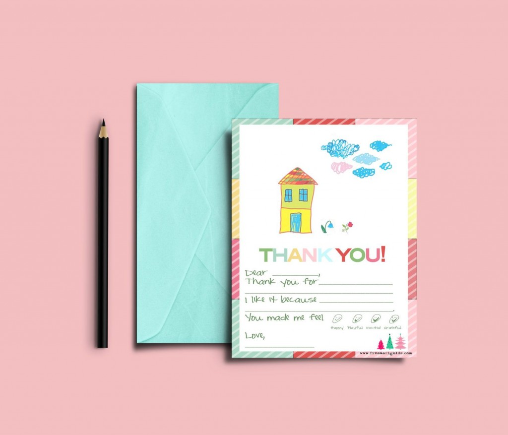 003 Rare Thank You Note Template For Kid Example  Kids Child Pdf LetterLarge