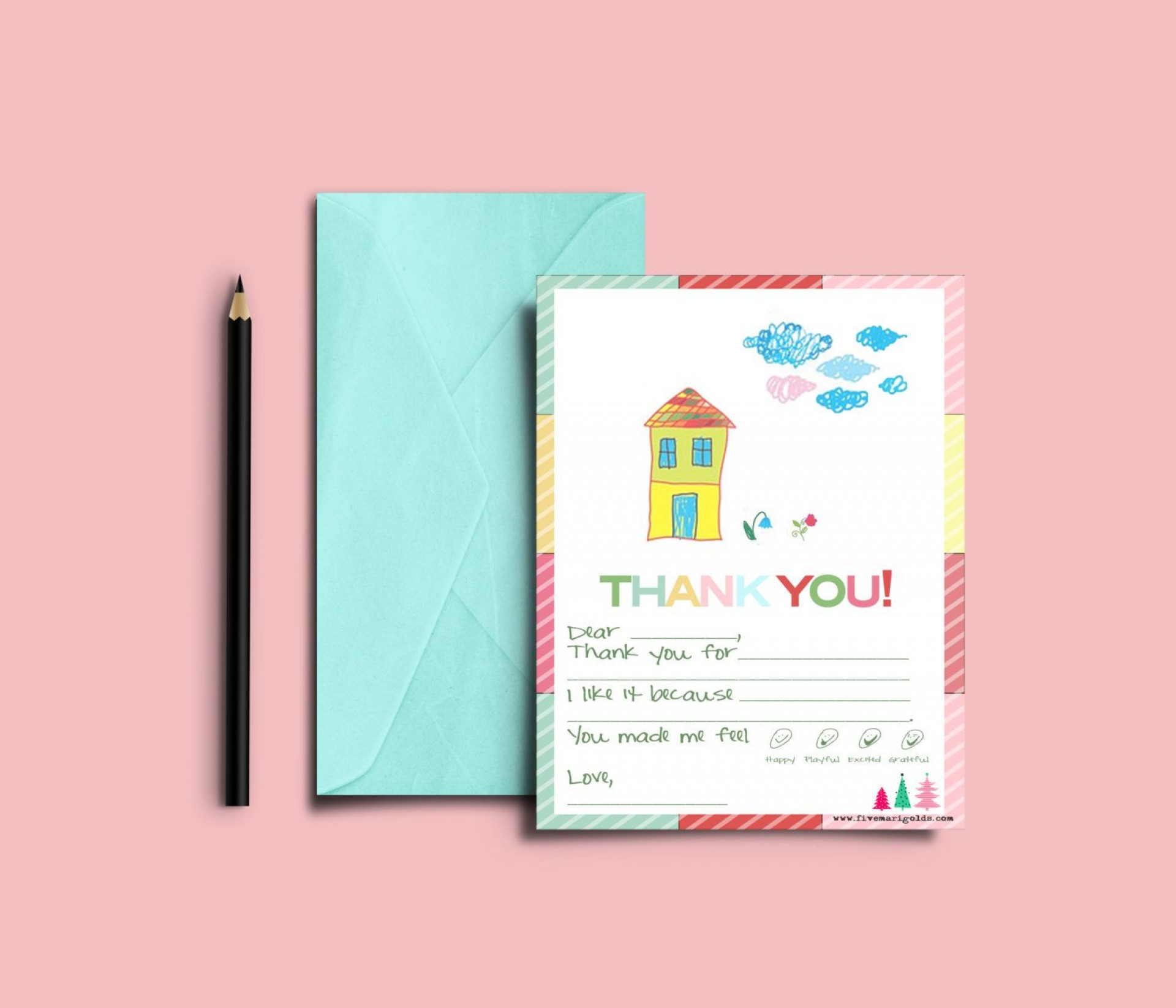 003 Rare Thank You Note Template For Kid Example  Kids Child Pdf Letter1920