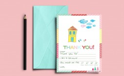 003 Rare Thank You Note Template For Kid Example  Kids Child Pdf Letter