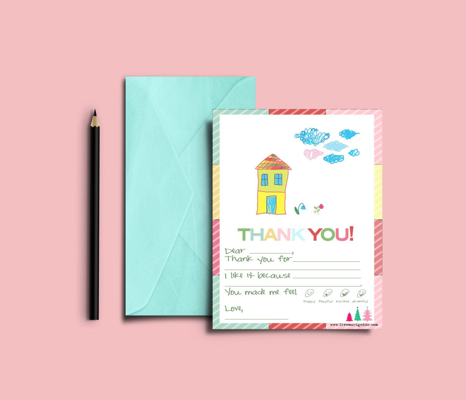 003 Rare Thank You Note Template For Kid Example  Kids Child Pdf LetterFull