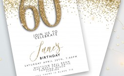 003 Remarkable 60 Birthday Invite Template Example  Templates 60th Printable Free