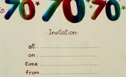 003 Remarkable 70th Birthday Invitation Template Free Sample  Surprise Invite With Photo