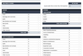 003 Remarkable Basic Profit And Los Template High Resolution  Free Simple Form Statement Excel For Self Employed