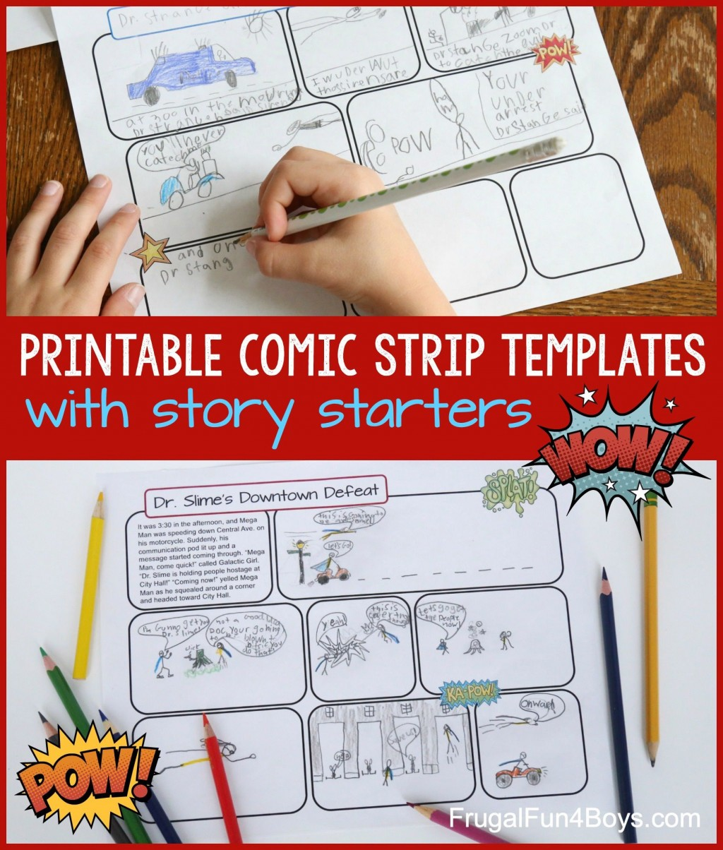 003 Remarkable Comic Strip Template Word Doc Sample Large