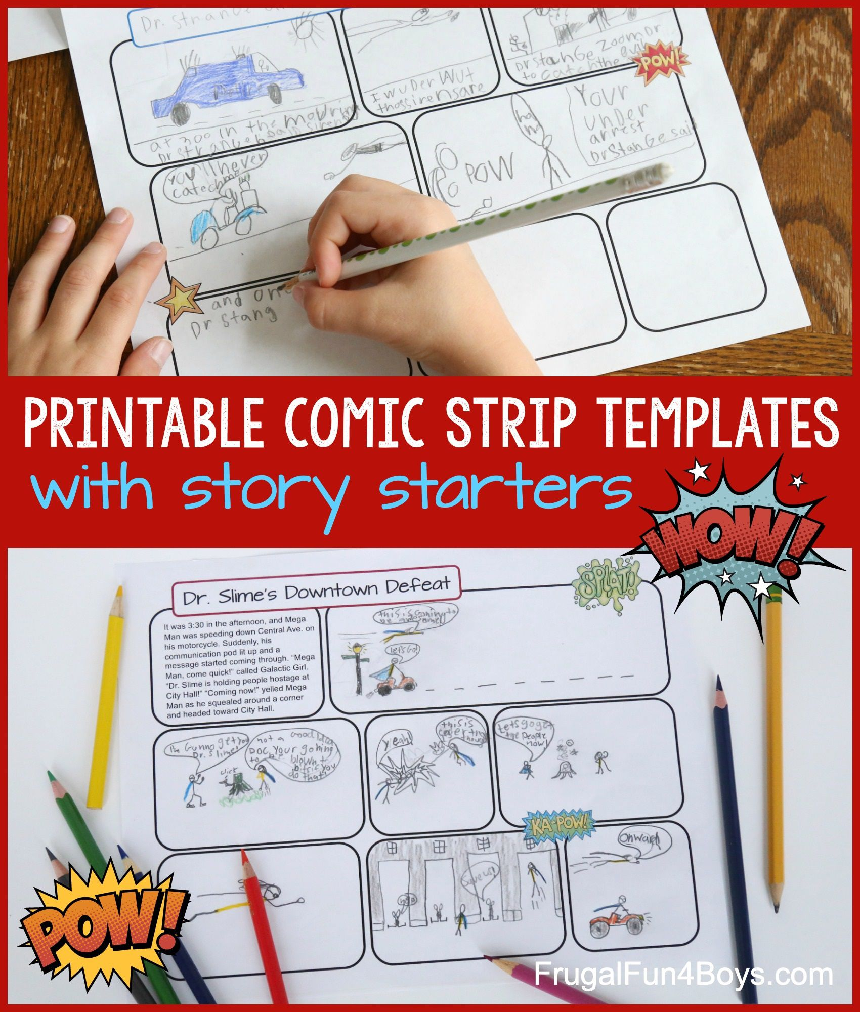 003 Remarkable Comic Strip Template Word Doc Sample Full