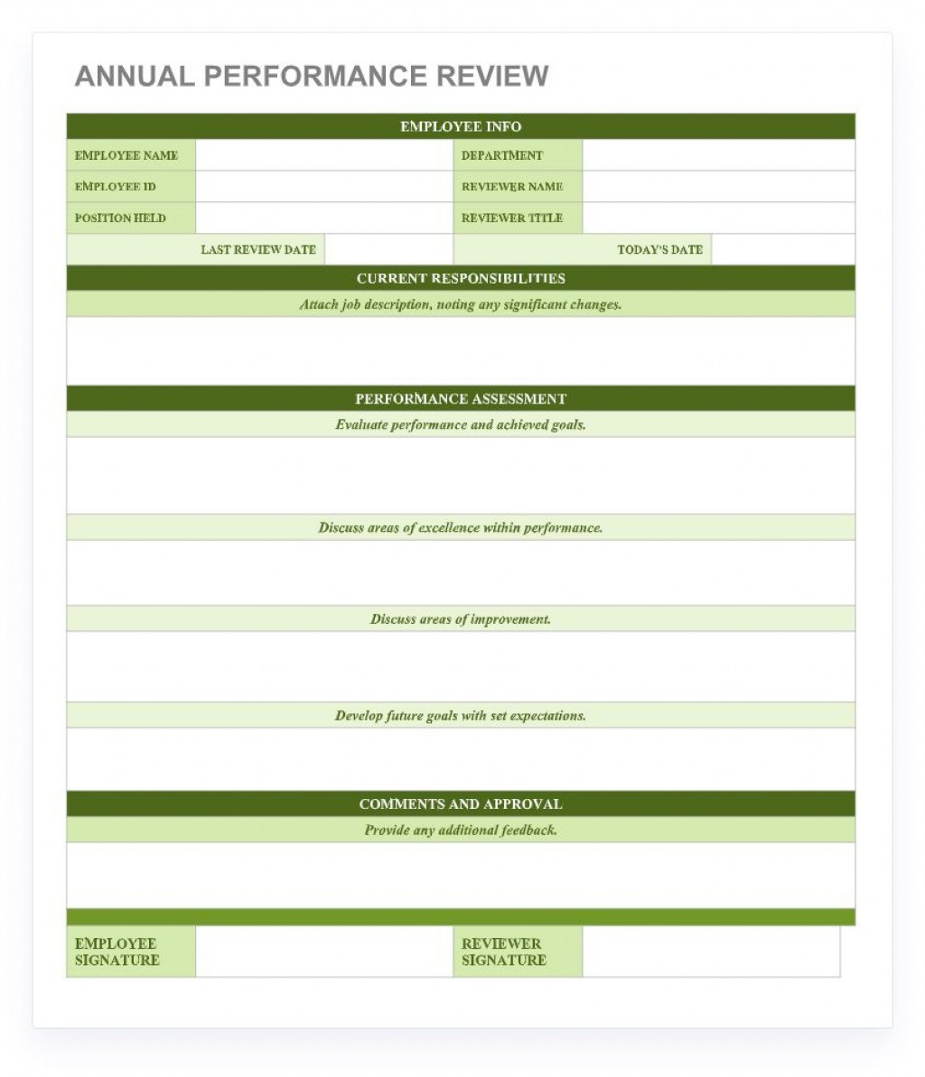 003 Remarkable Employee Performance Review Template Word Highest Quality  Microsoft DocumentLarge