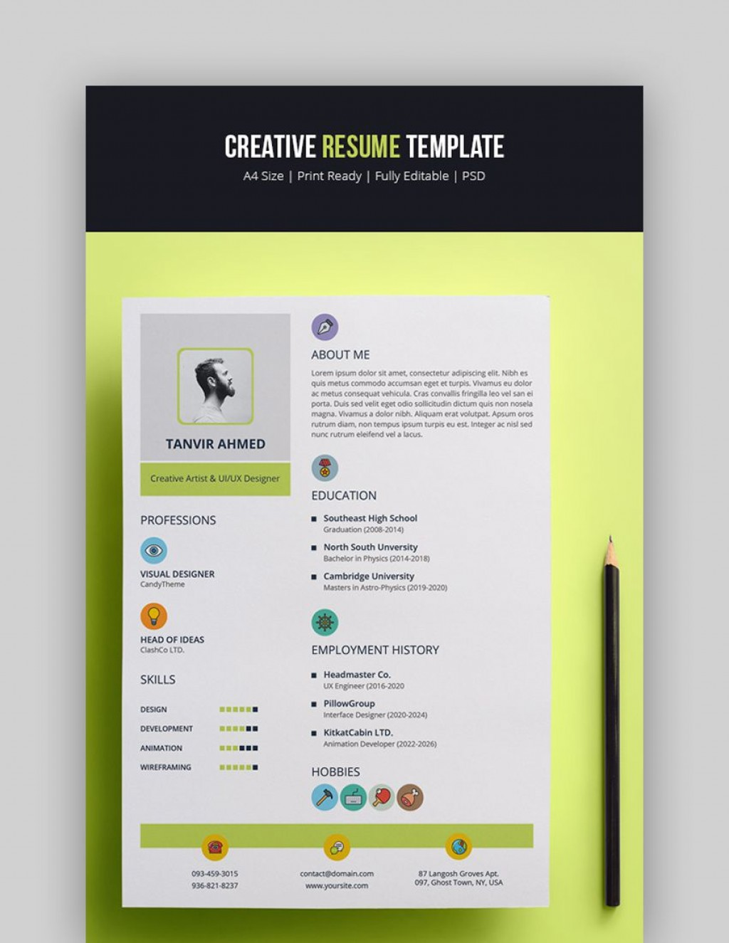 003 Remarkable Eye Catching Resume Template High Def  Microsoft Word Free Download MostLarge