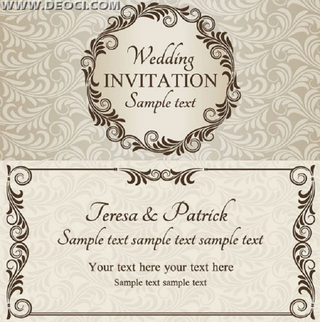 003 Remarkable Free Download Invitation Card Design Example  Birthday Party Blank Wedding Template SoftwareLarge