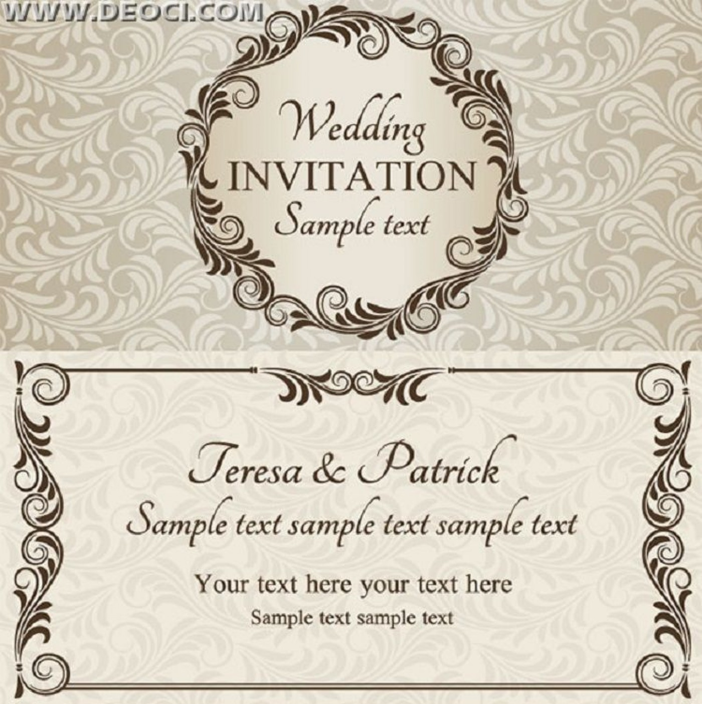 003 Remarkable Free Download Invitation Card Design Example  Birthday Party Blank Wedding Template Software1400