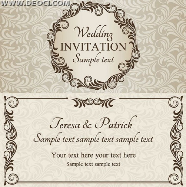 003 Remarkable Free Download Invitation Card Design Example  Birthday Party Blank Wedding Template Software728