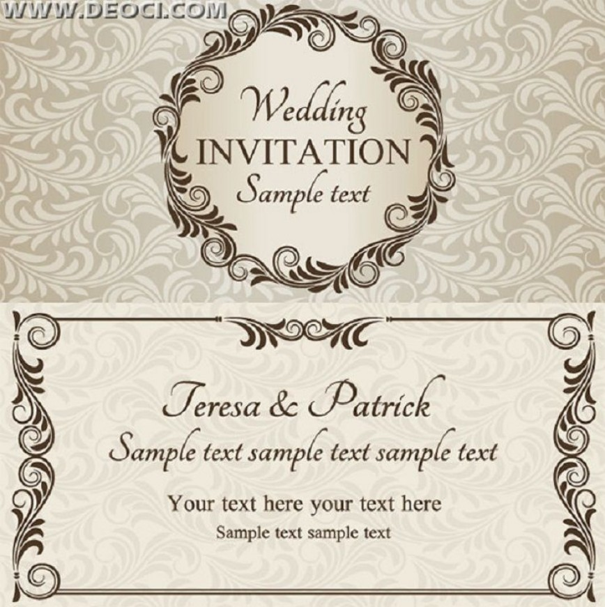 003 Remarkable Free Download Invitation Card Design Example  Birthday Party Blank Wedding Template Software868