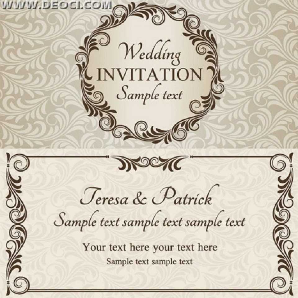 003 Remarkable Free Download Invitation Card Design Example  Birthday Party Blank Wedding Template Software960