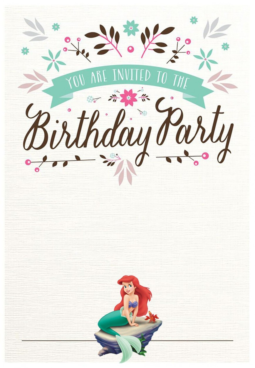 003 Remarkable Free Mermaid Invitation Template High Definition  Baby Shower Blank Tail