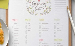 003 Remarkable Grocery List Template Word Doc High Def  Shopping Document