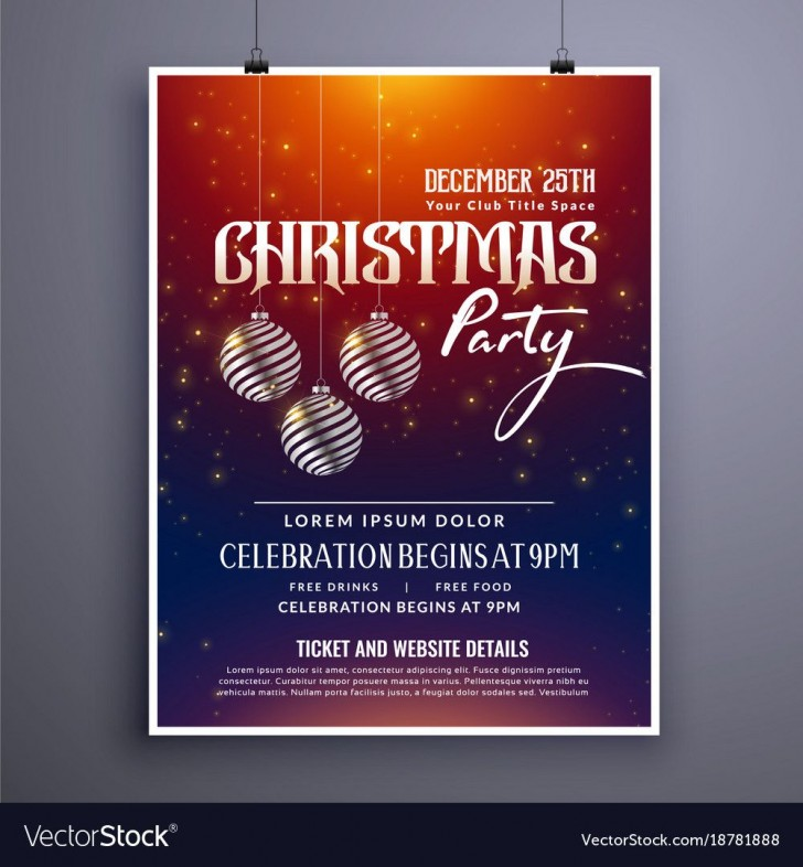003 Remarkable Holiday Party Invitation Template Free Photo  Elegant Christma Download Dinner Printable Australia728