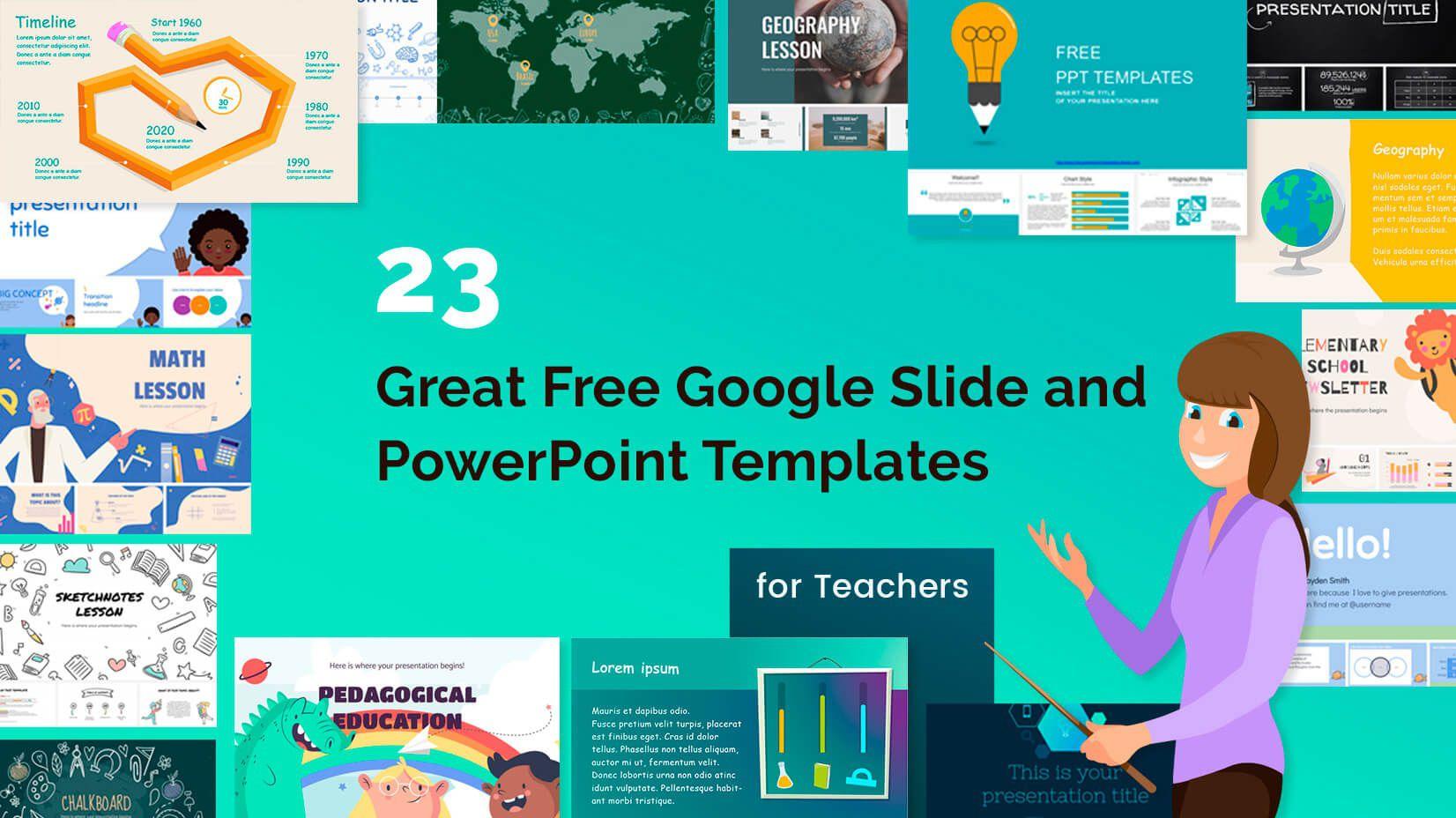003 Remarkable Ppt Template For Teacher Highest Clarity  Teachers Free Download Powerpoint Education KindergartenFull