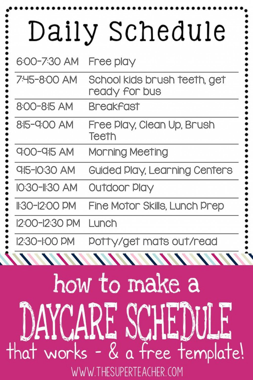003 Remarkable Preschool Daily Schedule Template High Def  Planner Routine PlanLarge
