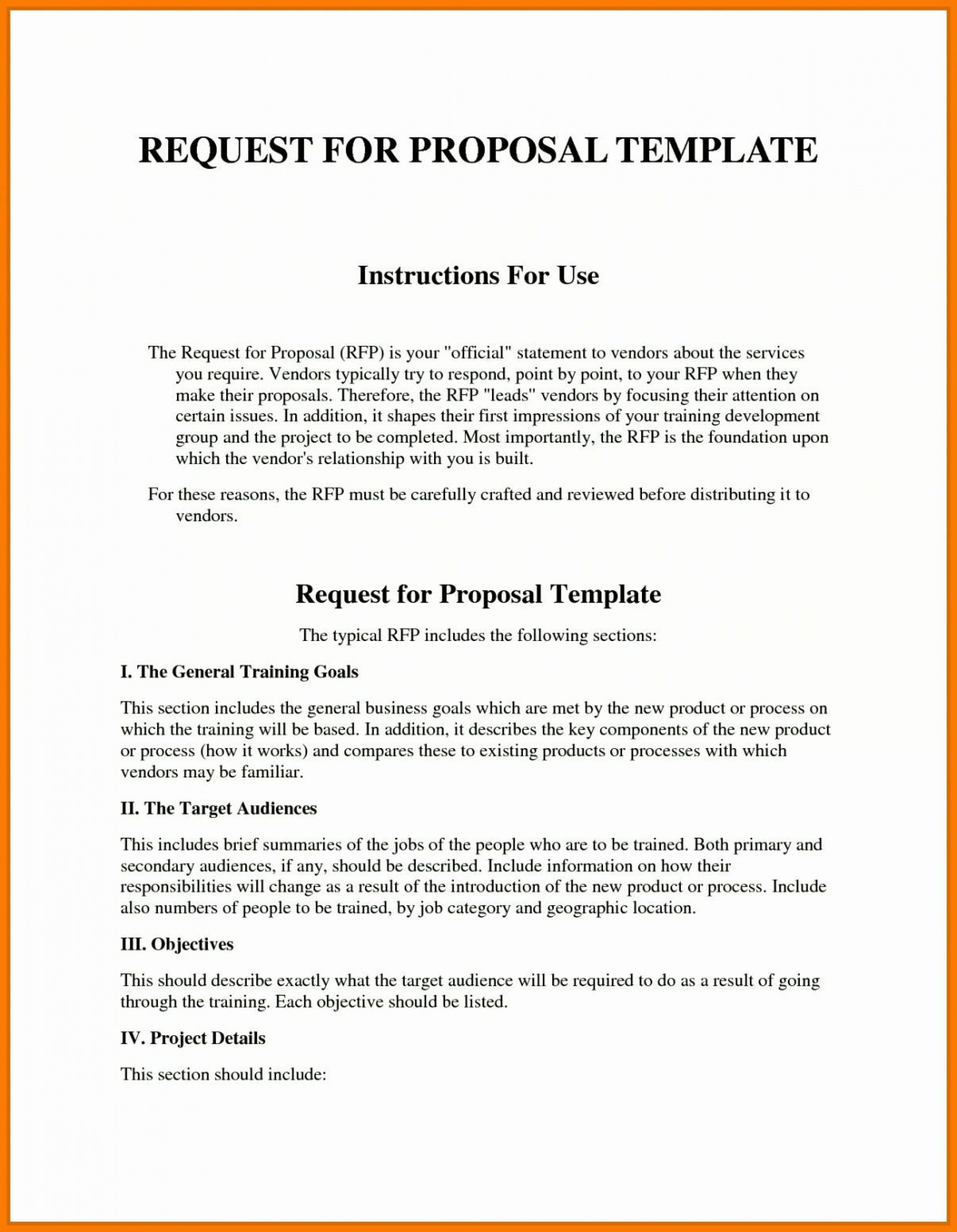 003 Remarkable Request For Proposal Rfp Template Construction Inspiration 1920
