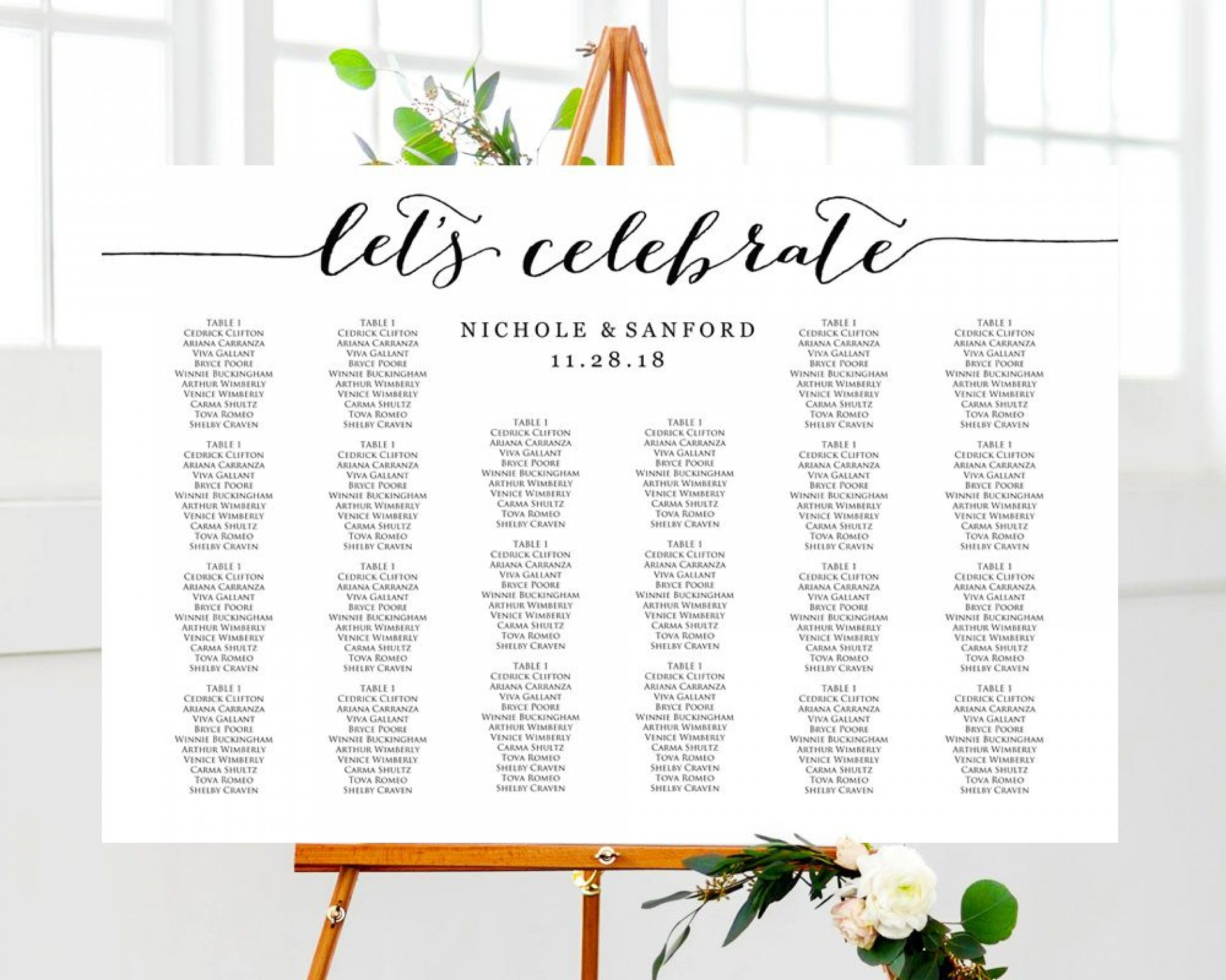 003 Remarkable Seating Chart Wedding Template Highest Clarity  Table Excel Printable Reception Free1920