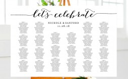 003 Remarkable Seating Chart Wedding Template Highest Clarity  Table Excel Printable Reception Free