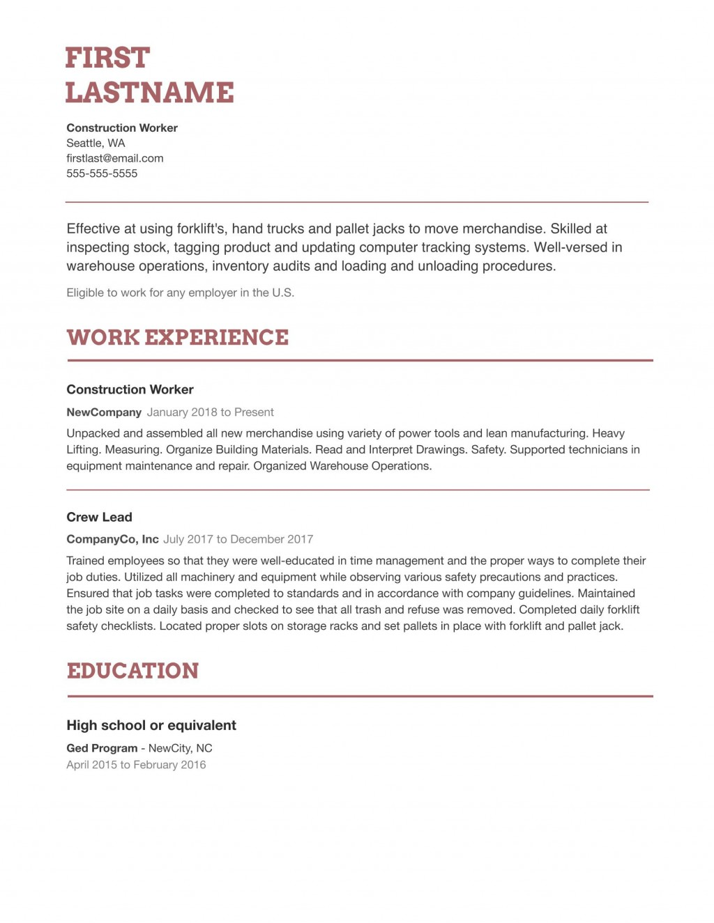 003 Remarkable Simple Job Resume Template Sample  Templates Example DownloadLarge