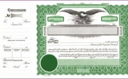 003 Remarkable Stock Certificate Template Word Highest Clarity  Microsoft