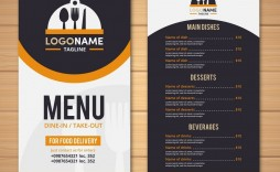 003 Remarkable Take Out Menu Template High Definition  Tri Fold Free Word Restaurant Away