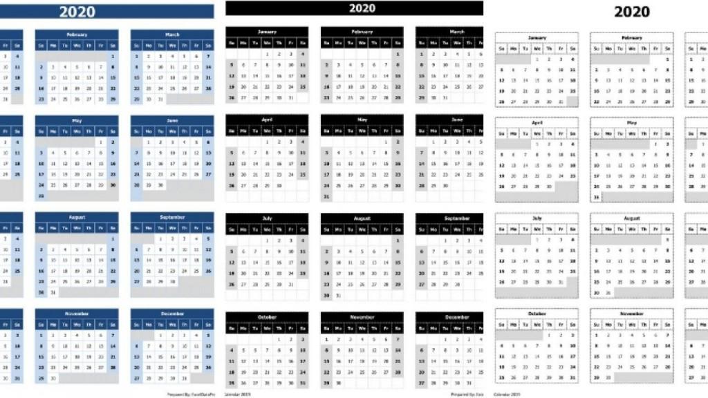003 Sensational 2020 Calendar Template Excel Highest Quality  Microsoft Editable In Format Free DownloadLarge