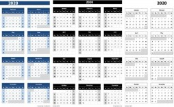 003 Sensational 2020 Calendar Template Excel Highest Quality  Microsoft Editable In Format Free Download