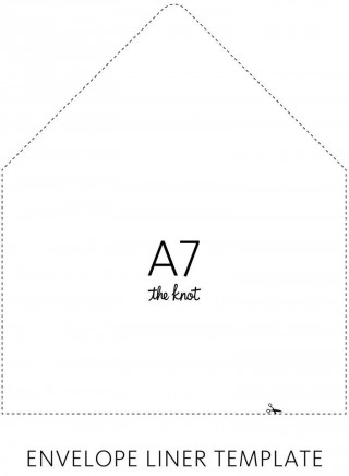 003 Sensational A7 Envelope Liner Template Free High Def 320