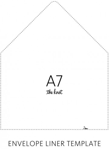 003 Sensational A7 Envelope Liner Template Free High Def 360