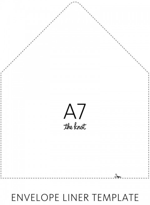 003 Sensational A7 Envelope Liner Template Free High Def 480