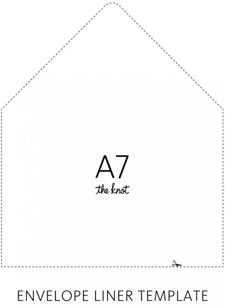 003 Sensational A7 Envelope Liner Template Free High Def 728