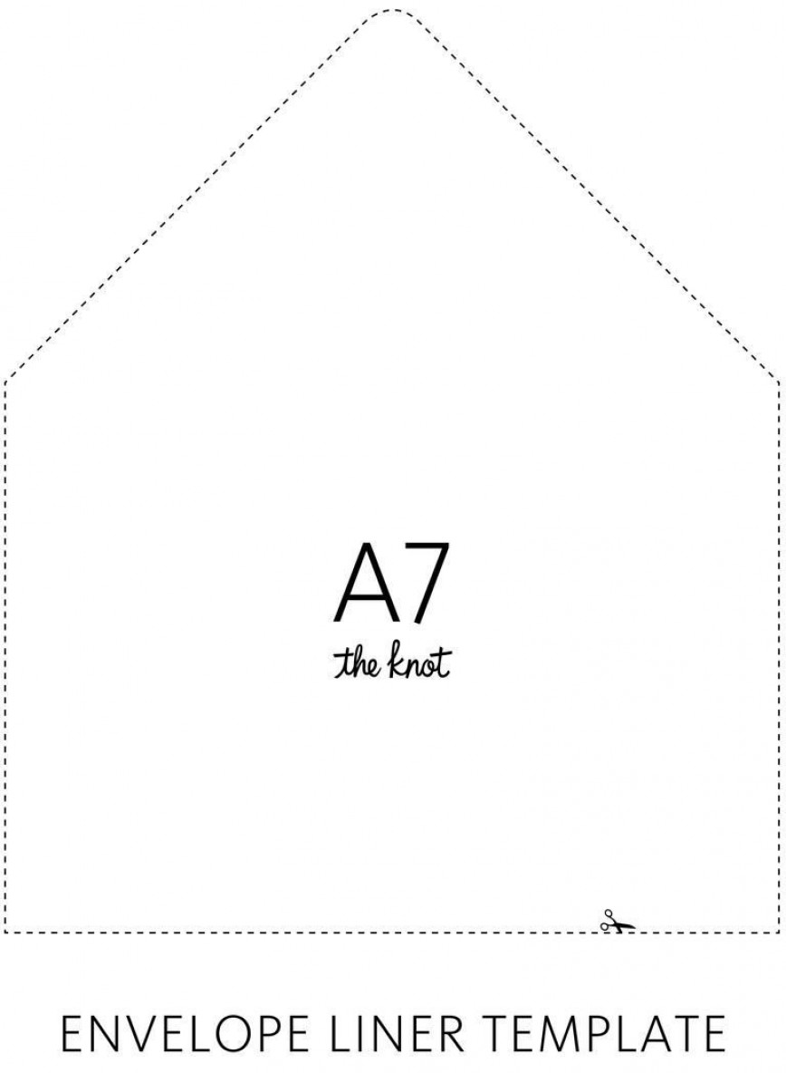 003 Sensational A7 Envelope Liner Template Free High Def 868