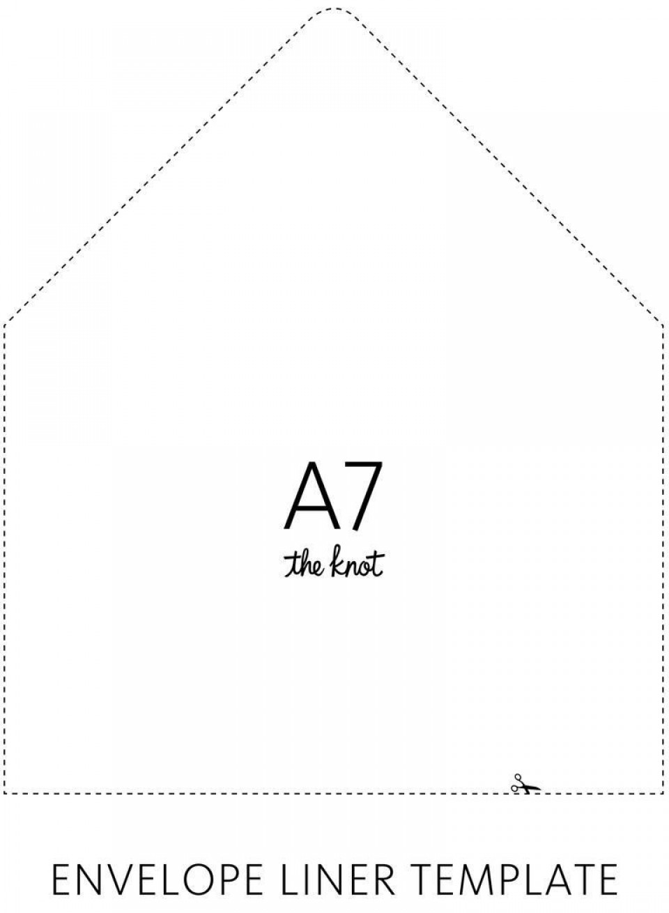 003 Sensational A7 Envelope Liner Template Free High Def 960