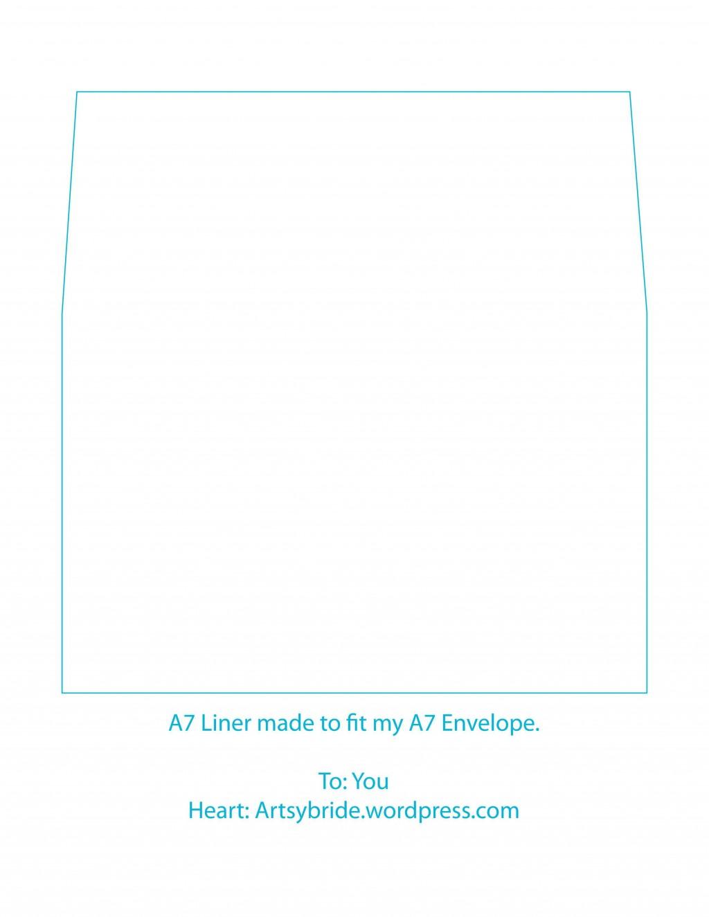 003 Sensational A7 Square Flap Envelope Liner Template Inspiration Large