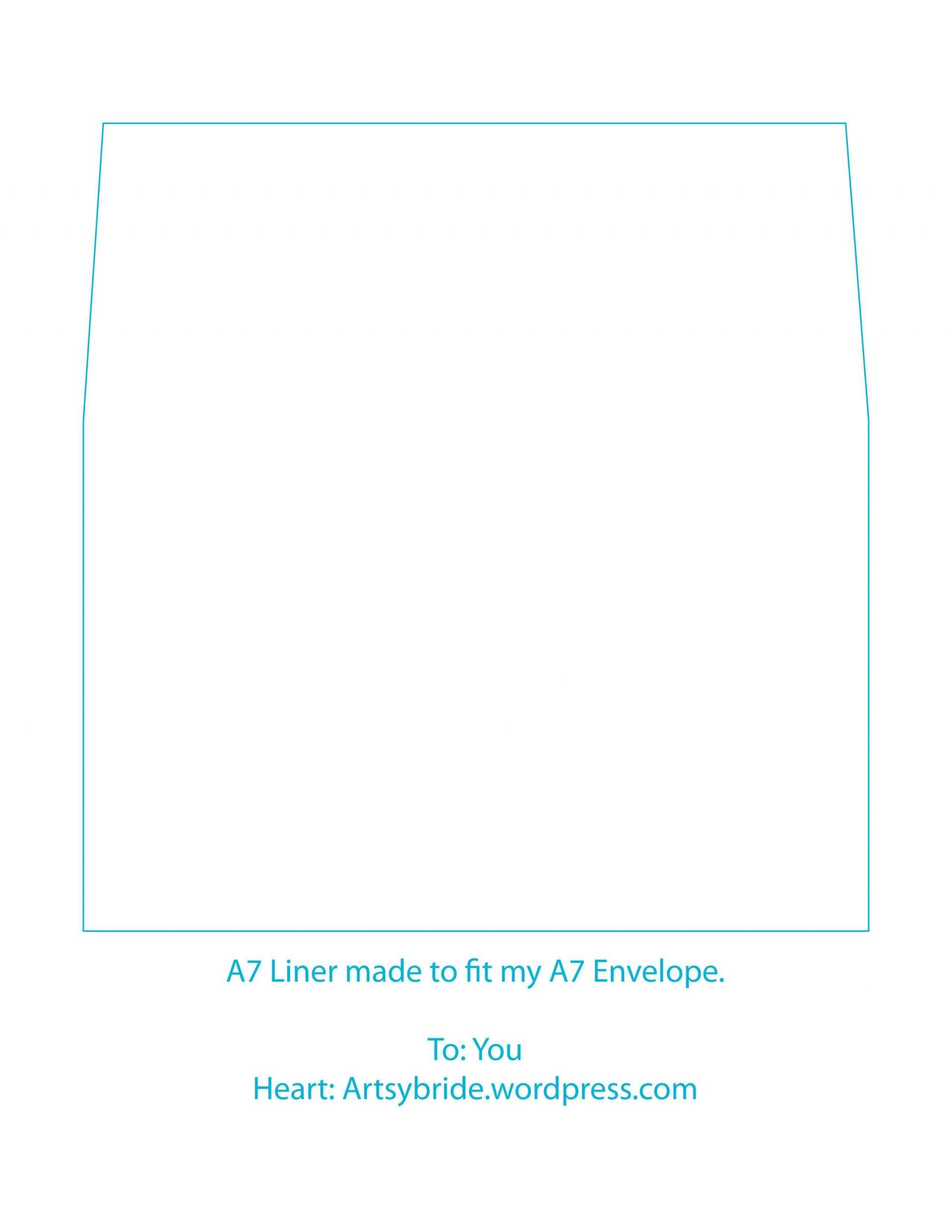 003 Sensational A7 Square Flap Envelope Liner Template Inspiration 1920