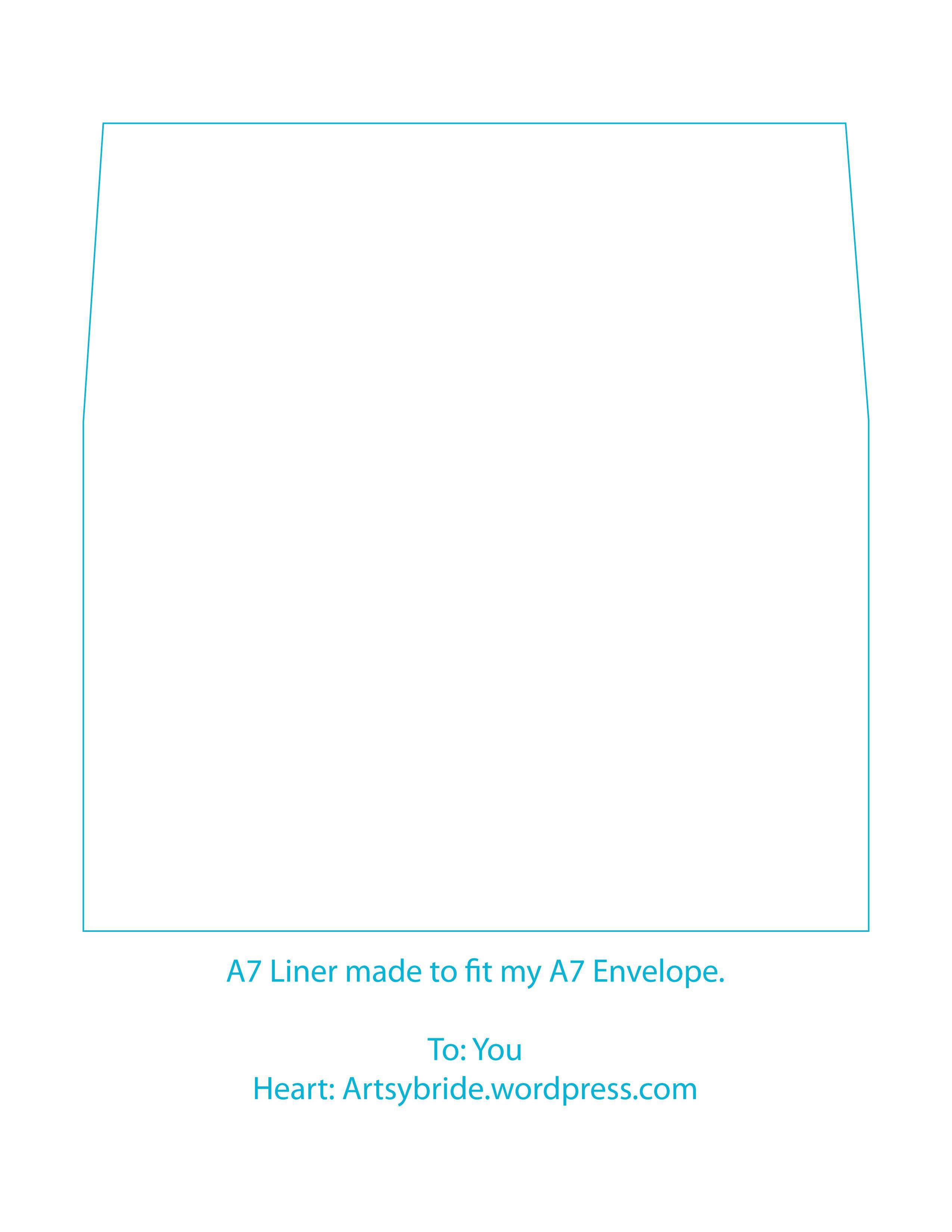 003 Sensational A7 Square Flap Envelope Liner Template Inspiration Full