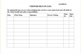 003 Sensational Busines Visitor Sign In Sheet Template High Definition