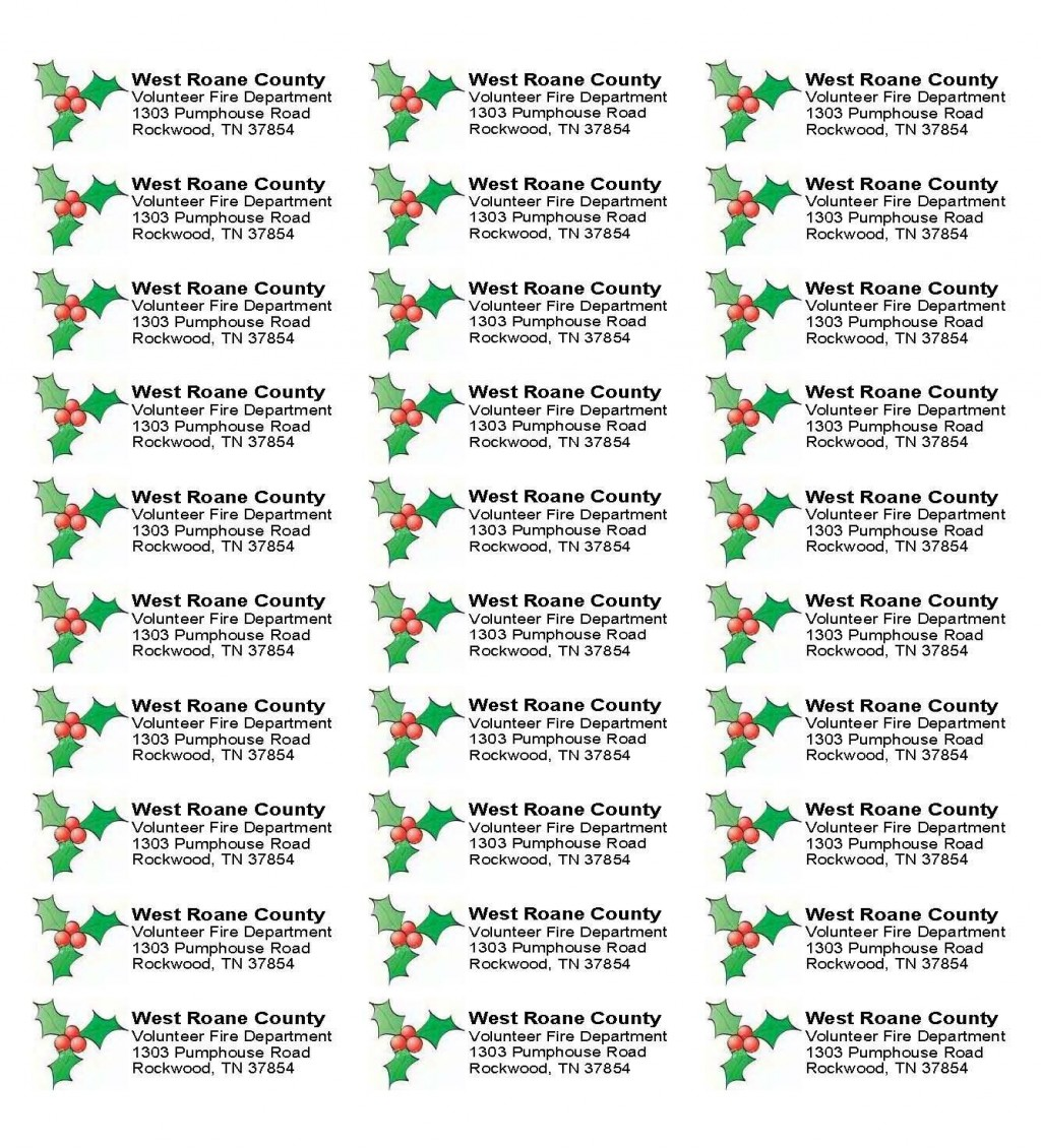003 Sensational Christma Mailing Label Template Example  Addres Free Download ReturnLarge