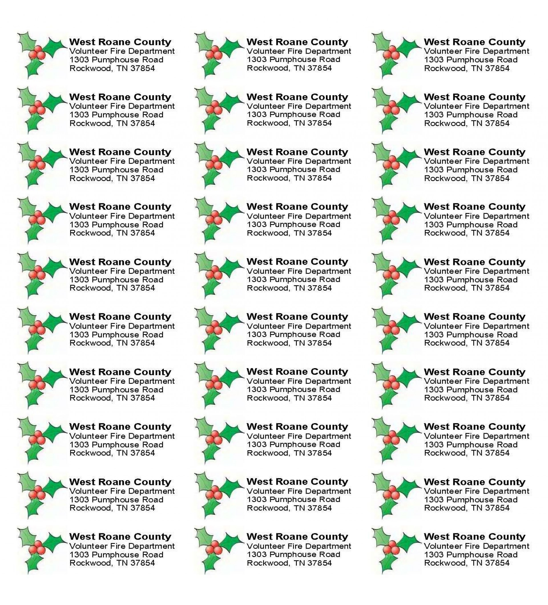 003 Sensational Christma Mailing Label Template Example  Addres Free Download Return1920