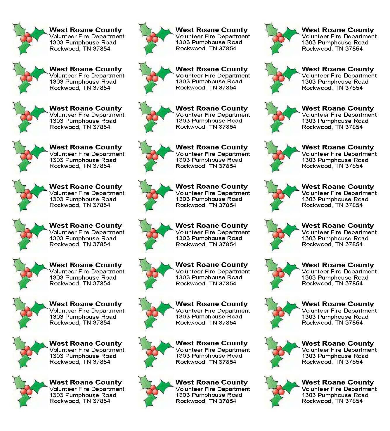 003 Sensational Christma Mailing Label Template Example  Addres Free Download ReturnFull