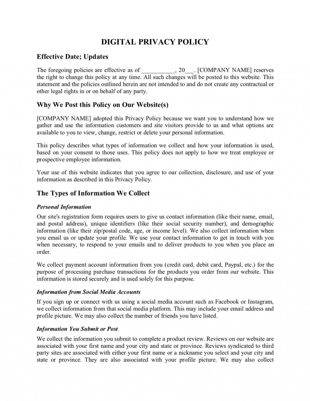 003 Sensational Company Privacy Policy Template Design  For Software AustraliaLarge