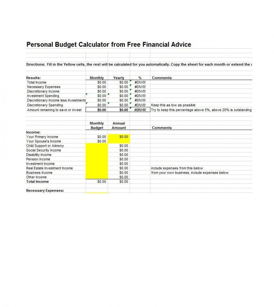 003 Sensational Free Monthly Budget Template Download High Resolution  Excel Planner960