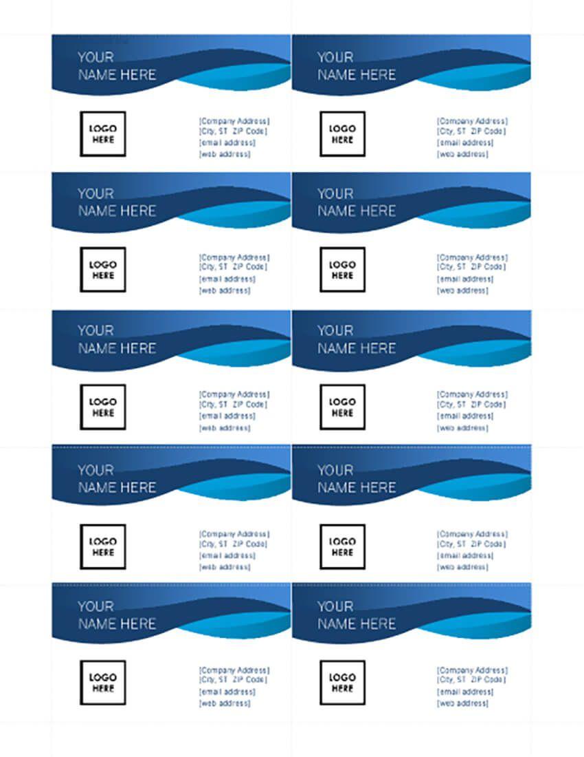 003 Sensational Free Printable Card Template Word Design  Blank Busines ForFull