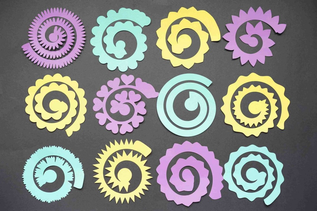 003 Sensational Free Rolled Paper Flower Template For Cricut Inspiration Large