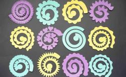 003 Sensational Free Rolled Paper Flower Template For Cricut Inspiration