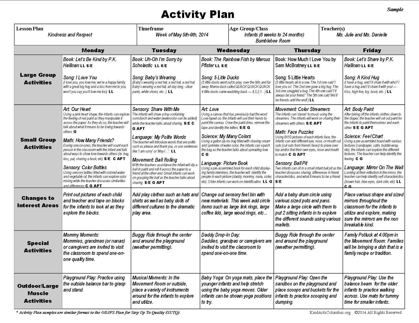 003 Sensational Free Sample Pre K Lesson Plan Example  Plans Pre-kFull