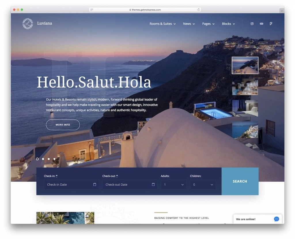 003 Sensational Hotel Website Template Html Free Download Example  With Cs Responsive Jquery And RestaurantLarge