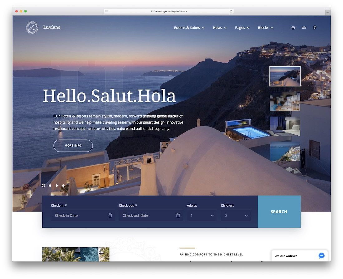003 Sensational Hotel Website Template Html Free Download Example  With Cs Responsive Jquery And RestaurantFull